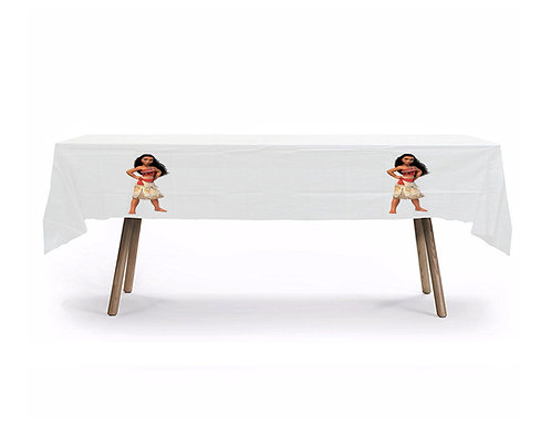 Moana Plastic Table Cover with Stickers - 140 cm x 275 cm