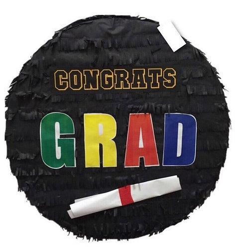 Graduation Congrats Grad Party Pull Strings Pinata - 35 cm