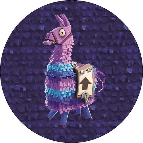 Fortnite Game Llama Birthday Party Pull Strings Pinata - 35 cm