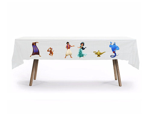 Jasmin Aladdin Plastic Table Cover with Stickers - 140 cm x 275