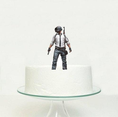 PUBG Game Big Topper for Cake - 1 pcs set