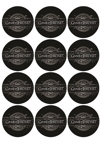 Game of Thrones Round Glossy Stickers - 12 pcs set