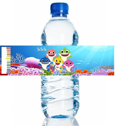 Baby Shark Water Bottles Stickers - 6 pcs set
