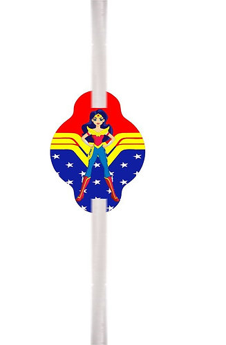 Wonderwoman Straws - 12 pcs set