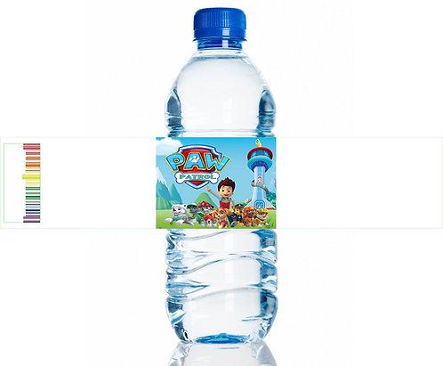 Paw Patrol Water Bottles Stickers - 6 pcs set