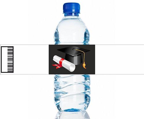 Graduation Water Bottles Stickers - 6 pcs set
