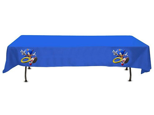 Sonic Game Plastic Table Cover with Stickers - 140 cm x 275cm