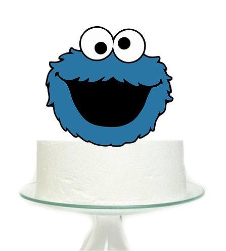 Sesame Street Cookie Monster Big Topper for Cake - 1 pcs set