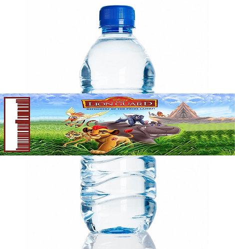 Lion King Lion Guard Water Bottles Stickers - 6 pcs set