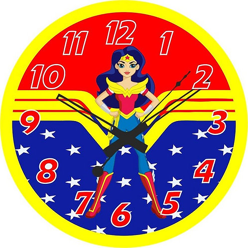 Wonder Woman DC Girls Clock