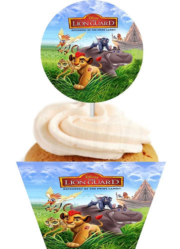 Lion king Lion Guard Round Cupcakes Toppers or Wrappers -12 or 24pcs