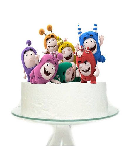 Oddbuds Big Topper for Cake - 1 pcs set