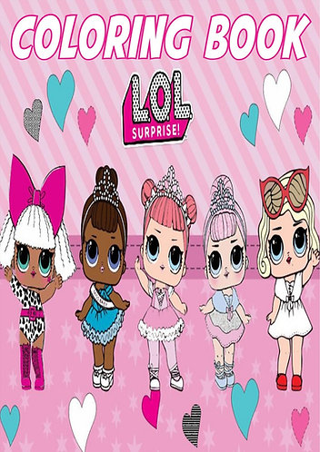LOL Surprise Dolls Small Coloring Book