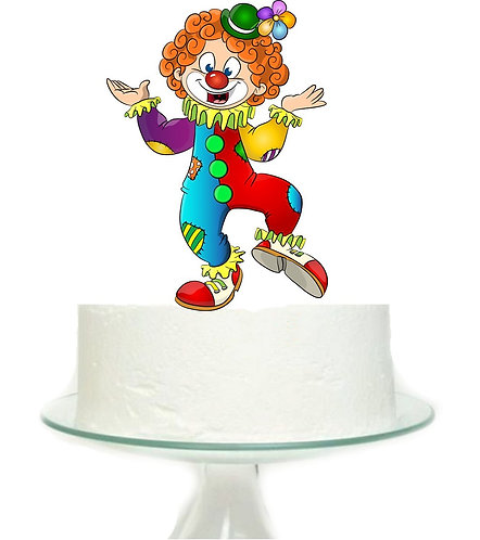 Carnival Circus Clown Big Topper for Cake - 1 pcs se