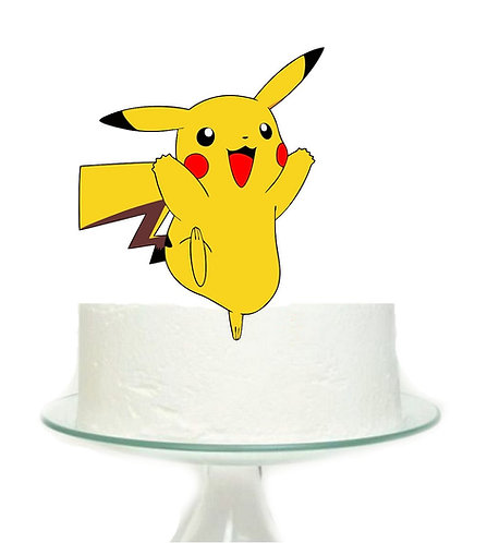 Pokemon Pikachu Big Topper for Cake - 1 pcs set
