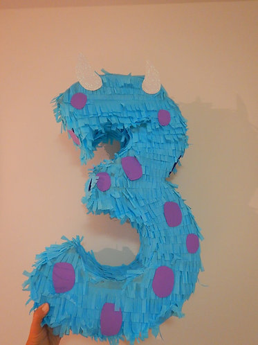 ANY NUMBER Monsters Inc Blue Head Party Pull Strings Pinata - 40cm