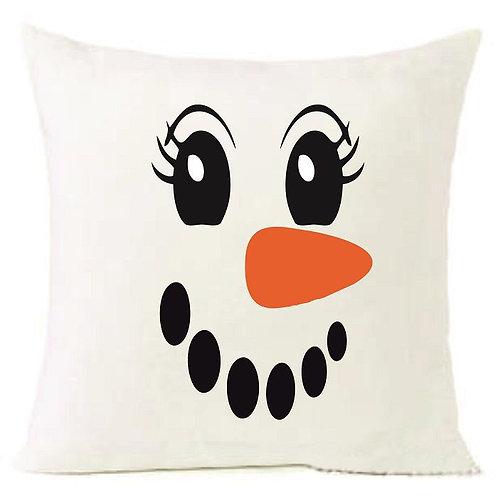 Christmas Snow Man Cushion Decorative Pillow COTTON OR LINEN - 40cm
