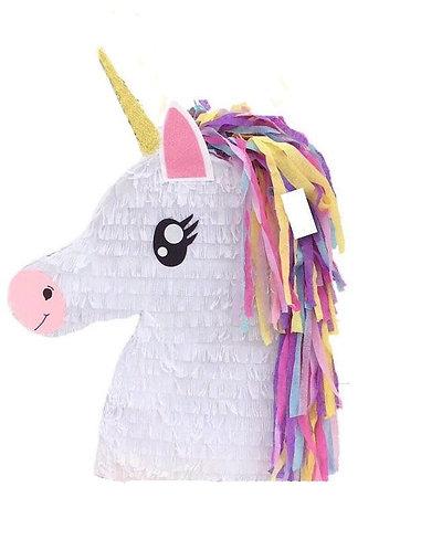 Unicorn Head Open Eyes Birthday Party Pull Strings Pinata - 40cm