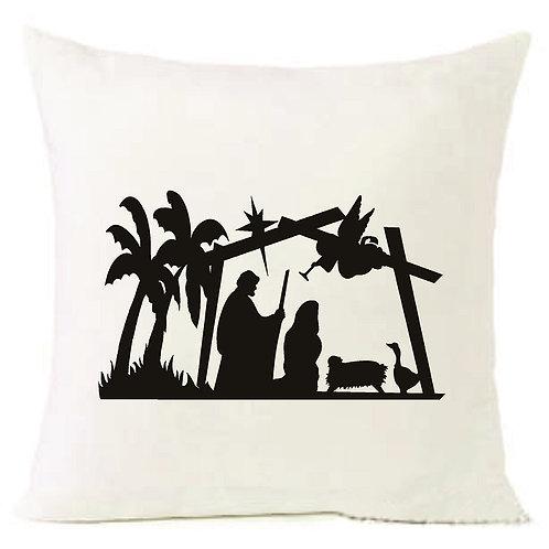 Christmas Nativity Mary Jesus Cushion Decorative Pillow COTTON OR LINEN -40cm