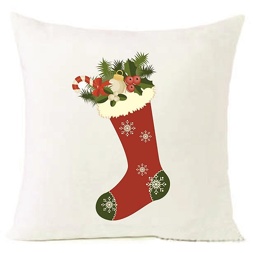 Christmas Sock Cushion Decorative Pillow COTTON OR LINEN - 40cm