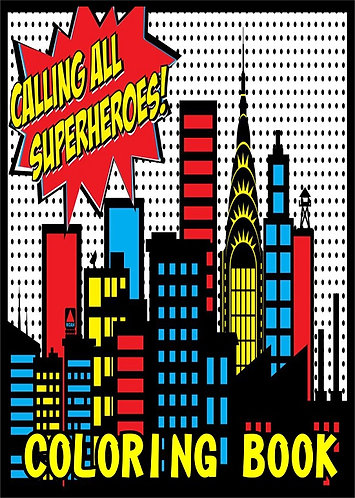 Superheroes Small Coloring Book