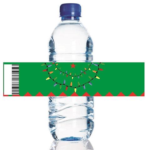 Christmas Tree Water Bottles Stickers - 6 pcs set