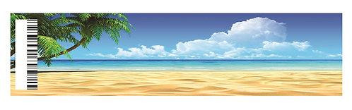 Beach Water Bottles Stickers - 6 pcs set