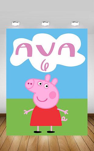Pepa Pig Backdrop