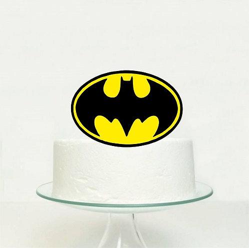 Batman Logo Big Topper for Cake - 1 pcs set