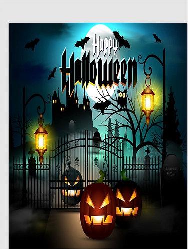 HAPPY HALLOWEEN Castle Congratulation Card