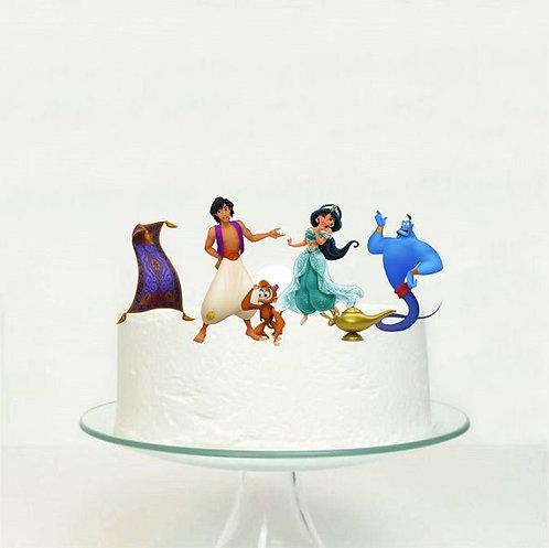 Jasmin Aladdin Big Topper for Cake- 6 pcs set