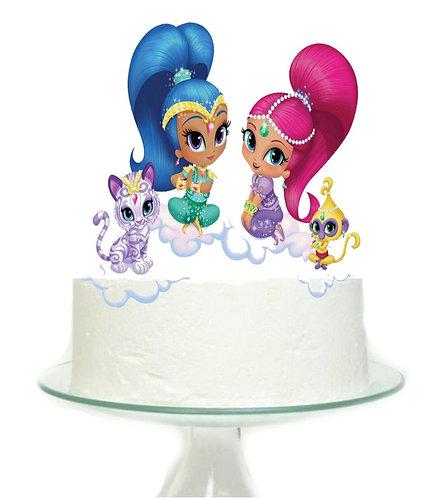 Shimmer Shine Big Topper for Cake - 1 pcs set