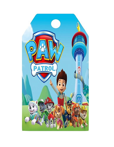 Paw Patrol Gifts Tags - 12 pcs set