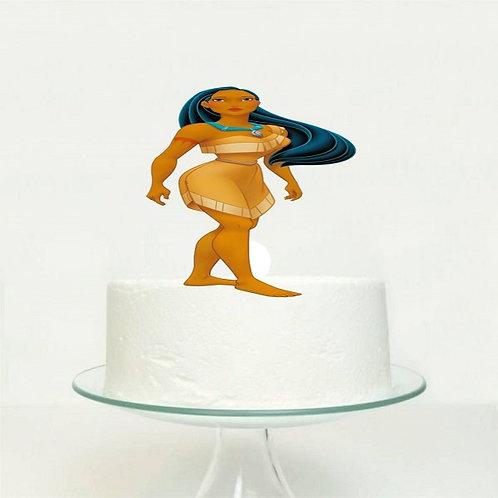 Princess Pocahontas Big Topper for Cake - 1 pcs set