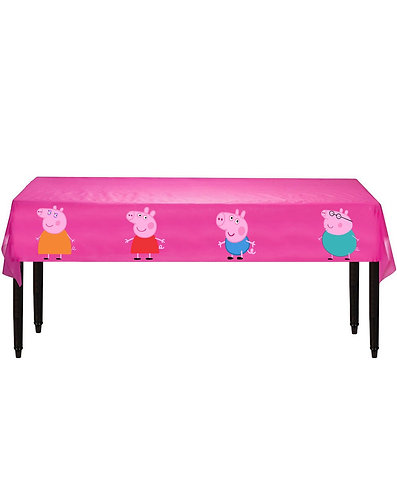 Peppa Pig Plastic Table Cover with Stickers - 140 cm x 275cm