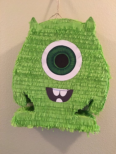 Monsters Inc Green Shape Party Pull Strings Pinata - 40cm