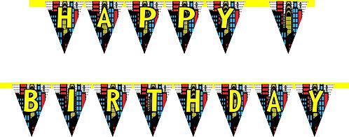 Superheroes HAPPY BIRTHDAY Banner