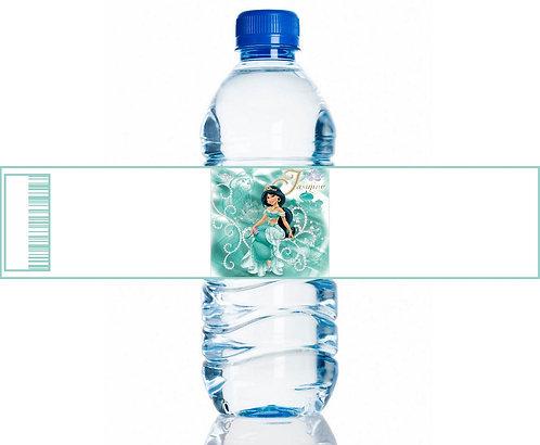 Princess Jasmin Aladdin Water Bottles Stickers - 6 pcs set