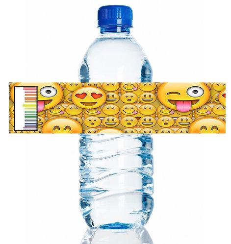 Emoji Water Bottles Stickers - 6 pcs set