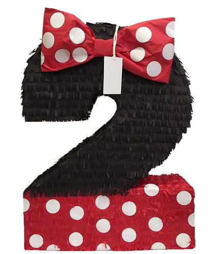 ANY NUMBER Minnie Party Pull Strings Pinata - 40cm