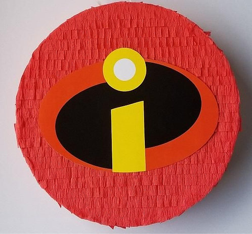 Incredibles Birthday Party Pull Strings Pinata - 35 cm