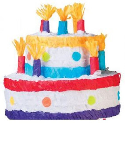 2 Tiers Cake Birthday Party Pull Strings Pinata -40 cm