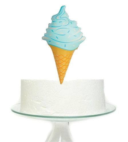Blue Ice Cream Big Topper for Cake - 1pcs set