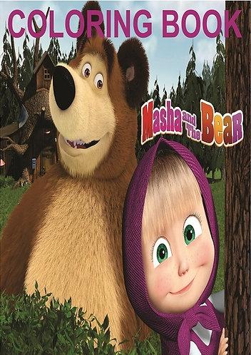 Masha and the Bear Small Coloring Book