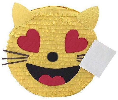 Emoji Cat Birthday Party Pull Strings Pinata -35cm