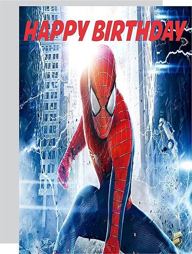 Spiderman HAPPY BIRTHDAY Congratulation Card