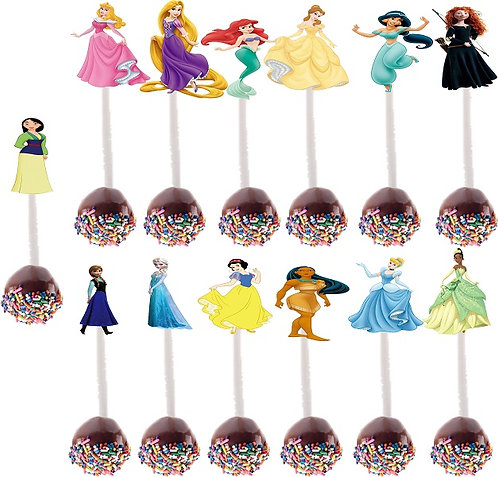 Princess Characters Cakepops Toppers - 13 pcs set