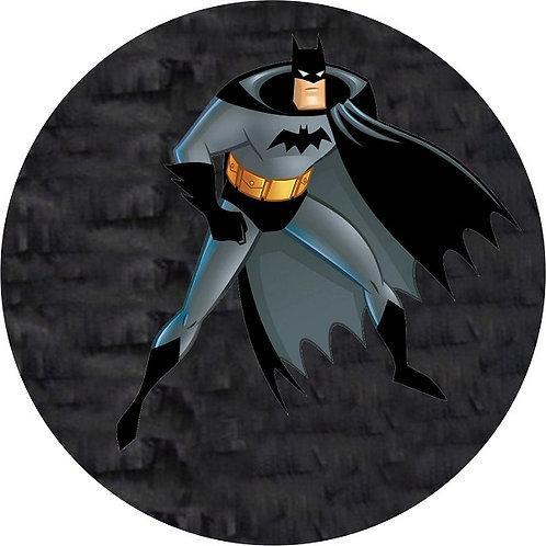 Batman Birthday Party Pull Strings Pinata Round -35 cm