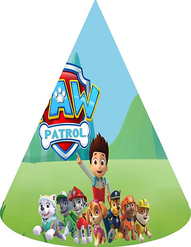 Paw Patrol Party Hats - 6pcs