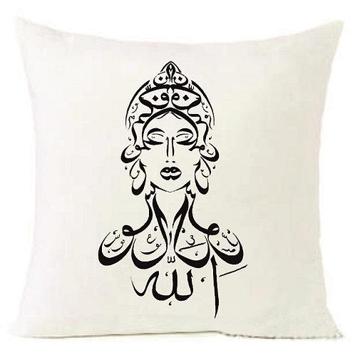 Arabic Letters QUEEN Cushion Decorative Pillow COTTON OR LINEN - 40